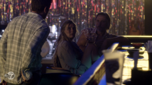 The bartender tells Deacon the tab is on the house, I guess as a buyback for the approximately eighty-four thousand drinks he bought there when he was an alcoholic.