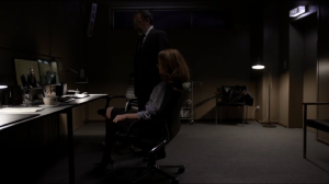 Allison and Saul watch Laura