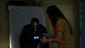 Numan films a video.