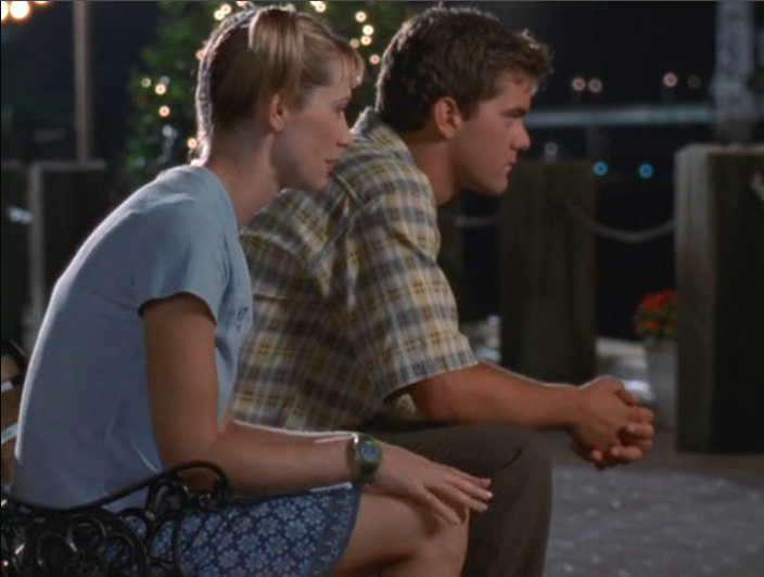 Image: Pacey and Andie sitting on a park bench